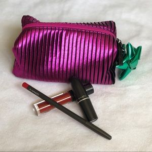 MAC Lip Gift Set with cosmetic bag💄